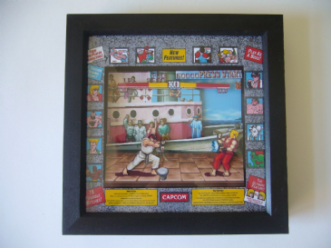 STREET FIGHTER 2 Arcade Art  3D Diorama Shadow Box
